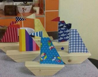 Wooden boats. Sail boats. Yacht. Wood.