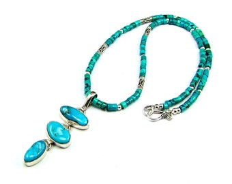 Kingman Turquoise & Sterling Silver Necklace - N735