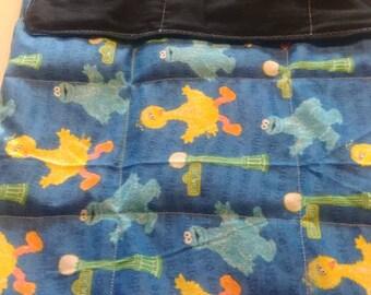 Sesame Street Big Bird, Cookie Monster weighted blanket 8 lbs 42 x 54