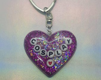 Cosplay Heart Keychain