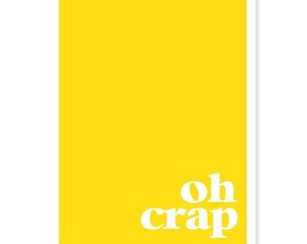 Oh Crap - Color Block Greeting Card