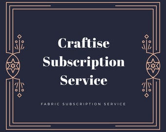 Fabric Subscription Service, Monthly Subscription Service, Subscription Box for Crafters