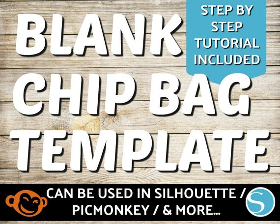 Blank Chip Bag Template Silhouette Chip Bag Template