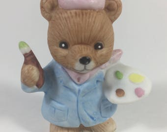 SALE Homco Career Bear Figurine Artist # 8820 Hand Painted Collectibles Pristine Condition