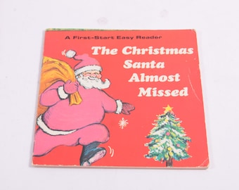The Christmas Santa Almost Missed, Troll, Marian Frances, Troll Associates, Early Reader, 1970 ~ The Pink Room ~ 161215