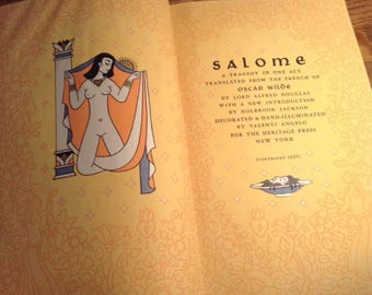 Salome by Oscar Wilde - Vintage First Edition Book, 1945, Heritage Press, Illustrated Book, Collectible Book, Book Lover Gift, Hardcover