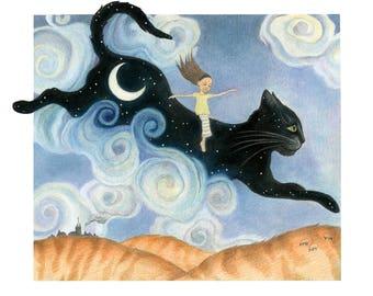"Cat Greetings card - ""Cat Beginning"""