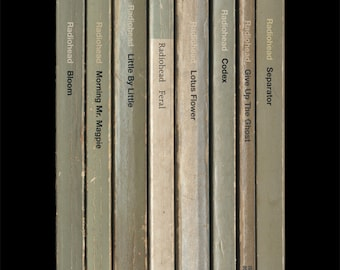 Radiohead 'The King of Limbs' Album As Books Poster Print