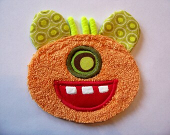 Kooky Eye Orange Monster Patch