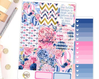 Adventure Weekly Kit for use in Erin Condren Life Planner Weekly Kit Floral Adventure Planner Stickers