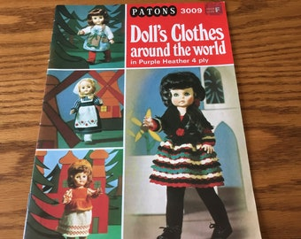 18 Inch - DOLL CLOTHES - Around The World - Knitting Patterns Only