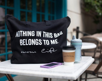 Mom Life | Canvas | Tote Bag | Gifts | For Moms | Oversized | Diaper Bag | Mom Clothes | Mom Bag | Funny Gifts | Travel