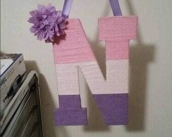 Personalized Yarn Letter Wall/Door Hanger