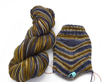 Wit Beyond Measure Watercolor Stripes Yarn - Self-Striping Sock Yarn Made to Order