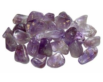 Five Amethyst Tumbled Stones ~ 2-3 cm