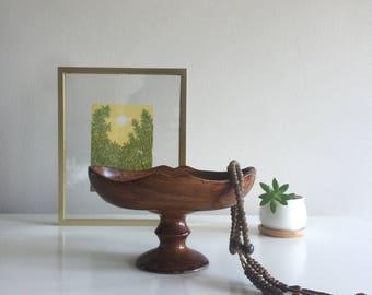 Wood Pedestal Dish