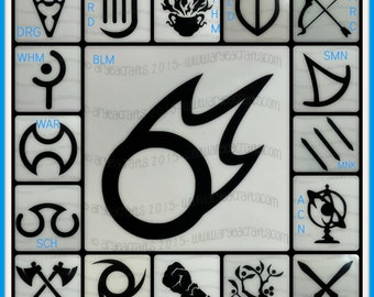 ffxiv job or class icons including stormblood jobs with a