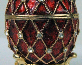 Russian Faberge Egg Replica with cross hatch design PC-0577-05