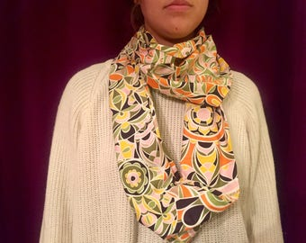 Funky Floral Infinity Scarf