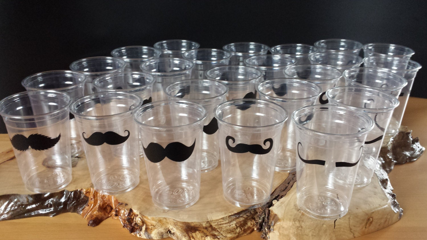25 mustache 10 oz 12 oz or 16 oz cup with 5 mustache