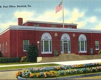 Berwick, Pennsylvania, Post Office -Vintage Postcard - Postcard - Unused (AA)