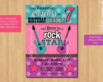 Rock star invitation rock star party invitation rockstar rock star invitation rockstar invitation rockstar birthday rocker invitation rock star birthday rock star party rockstar stopboris Images