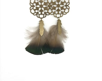 Clara natural feather earrings