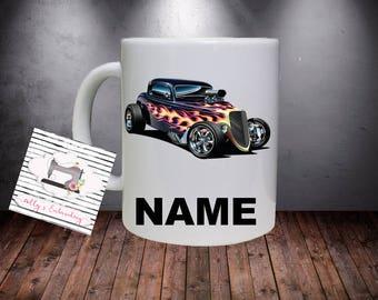 Personalised Hotrod Kids Mug