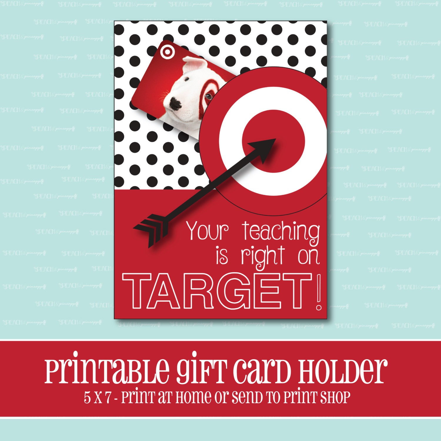 Instant download target gift card holder amazing teacher zoom negle Image collections