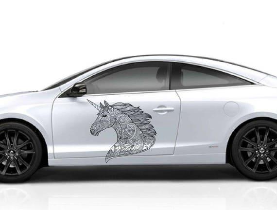 Unicorn head car hood decal unicorn head car decals unicorn