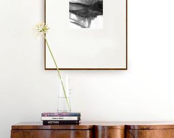 Strong Movement- ink dark, art print, modern print, print, abstract print, minimalist, black and white, glicee print, nature art,  zen print