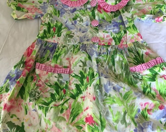Vintage Mopsey & Cottontail Floral Dress