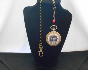 Harry Potter Inspired   /  Pocket Watch / Your Choice house Colors