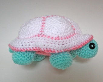 Livraison internationale gratuite modèle - Madame tortue Amigurumi-