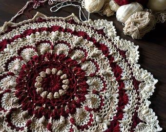Crochet blanket Pattern tutorial/CypressTextiles/babyLove Brand/Namaste Chunky Blanket/meditation rug mandala flower yoga thick easy fun zen