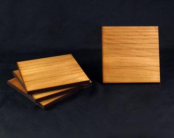 Cherry Wood // Log(arithmic) Coasters