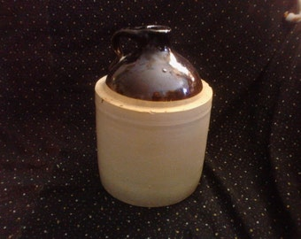 One-Gallon Vintage Stoneware Whiskey Jug