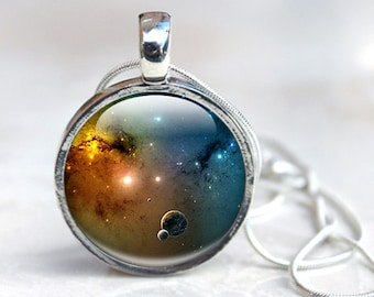 Galaxy necklace glass galaxy necklace spiral galaxy glass galaxy pendant glass pendant necklace galaxy glass pendant nse1 aloadofball Choice Image