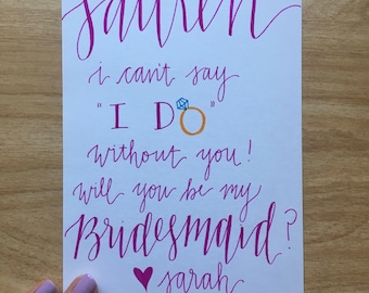 Bridesmaid Letter