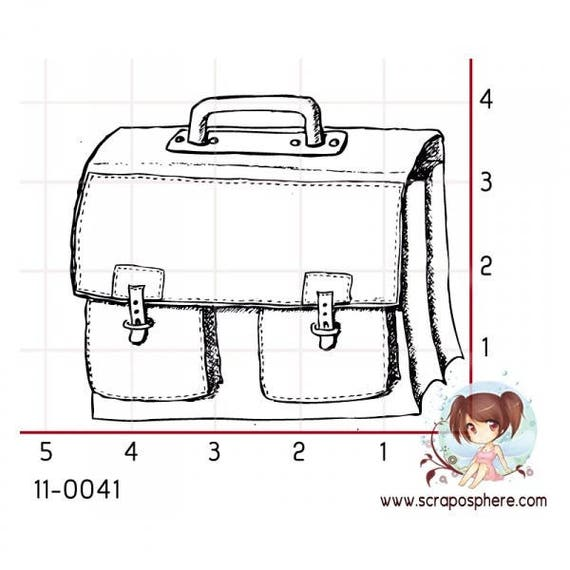 SCR42.1 satchel pattern rubber stamp