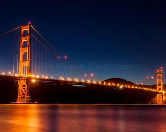 Golden Gate Lights at Night