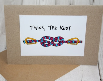 Tying The Knot | Wedding | Greeting Card | Handmade | Climbing | Personalise