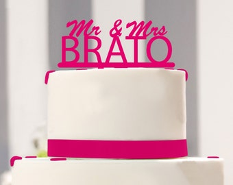 Cake topper Mr and Mrs with name