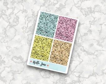 Glitter Headers || HELLO SUMMER || Brights ||  Erin Condren Vertical Planner Stickers Happy Planner Kikki k