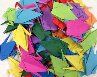 Origami Crane XLarge-45 Multicolored Extra Large Japanese Paper Cranes