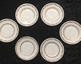 Set Of 6 ANTIQUE CHILDu0027S Toy Porcelain Plates Ca 1890 C T Altwasser Silesia & Altwasser porcelain | Etsy