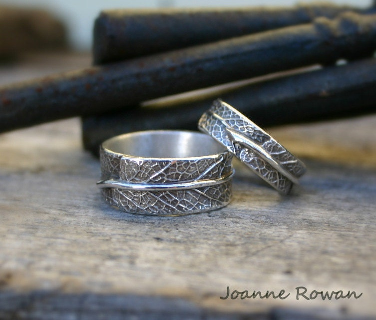 ring gold leaf vine rough uncut eternity and by twig anniversary wedding raw engagement vertrees dawn rings bands or