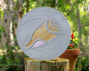 Conch Shell Seashell Stepping Stone #44