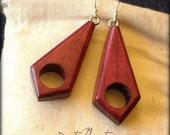 Wood Earrings - Purplehea...