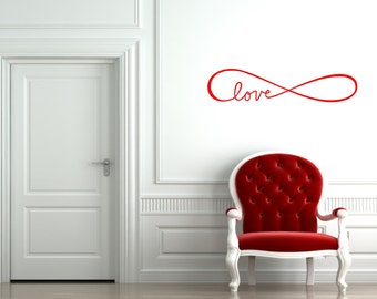 Love Infinity Wall Decal - Choose your Size and Color